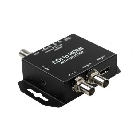 SDI till HDMI omvandlare. Anslutill en kamera med SDI till HDMI-skärm, överföring av ljud