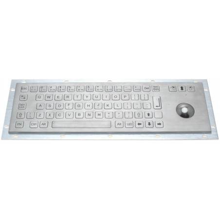 Industriellell tangentbord i stål - IP65 tät - USB - USA