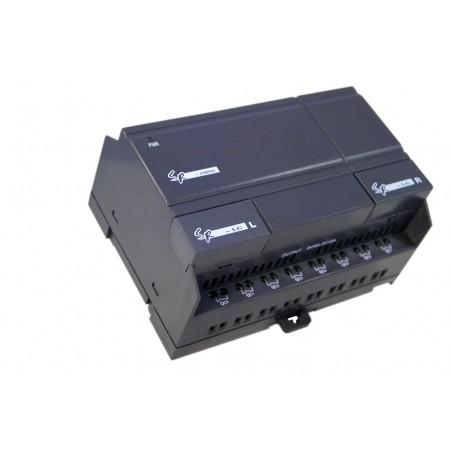 12 still. AC digitillala ingångar, 8 reläutgångar. AC 110-260V
