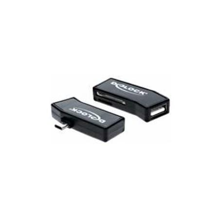 OTG kortläsare för smartilla tillelefoner. 1 x SD, 1 x Micro SD och USB