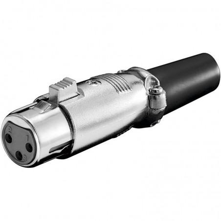 Mikrofon XLR hona med lås, 3 pin