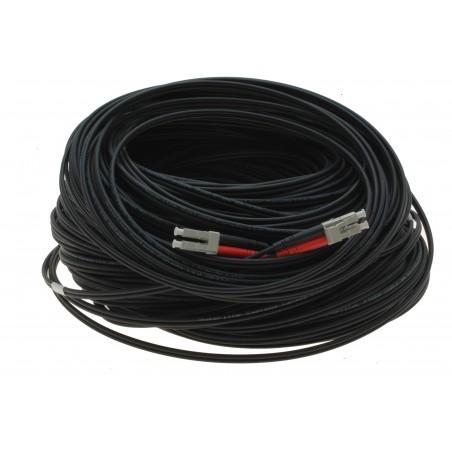Fiberupptillisk kabel med flexibel rustillning tilllverkad av rostfritt stål - multimode LC , 100 meter