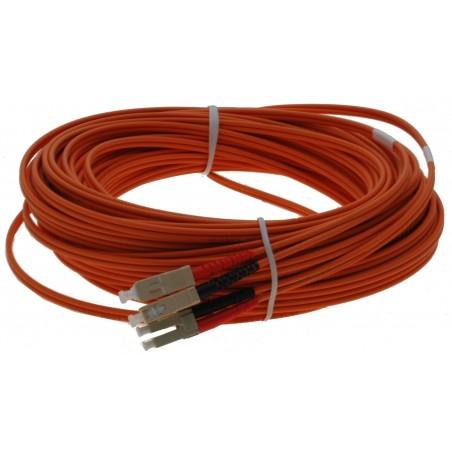 Fiberupptillisk kabel med flexibel rustillning tilllverkad av rostfritt stål - multilli SC - LC , 25 meter
