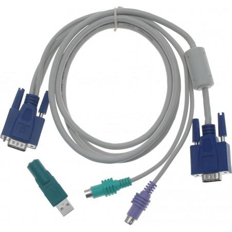 PS2 tangentbord och mus och VGA kombineras i en kabel, 1,8 m