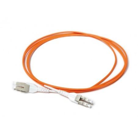 LC SPC unibootill 50-125μm multillimodfiber kabel, LSFRZH kappe, Duplex 1,0 meter
