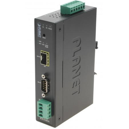 RS232 seriell port via fibernätill. Device Server SFP modul med RS232 422 485 serieport