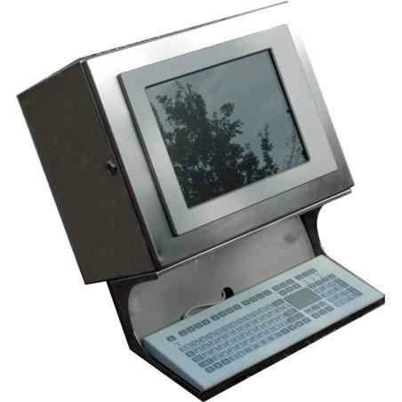 Panel PC stål skåp m.tangentbord