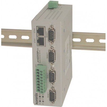 4-portars seriell port server, RS422/RS485 isoleret