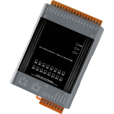 Ethernet-modul 16 ingångar och 2 - port Ethernet-switillch . PoE