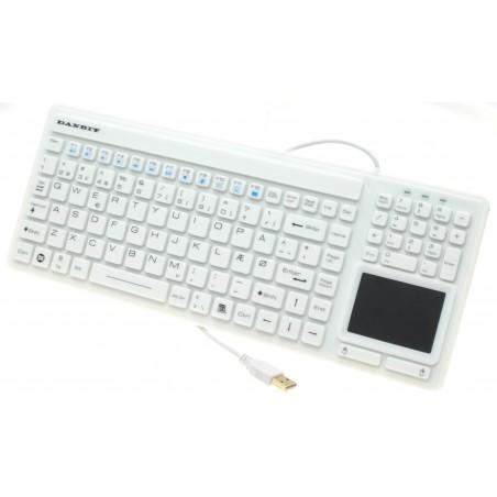 Vitill, hygienisk IP68 tät tangentbord med touch pad - USB - Nordic