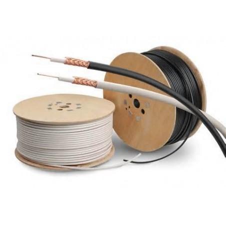 Löstill RG58 Ethernet-kabel på rulle, Svart