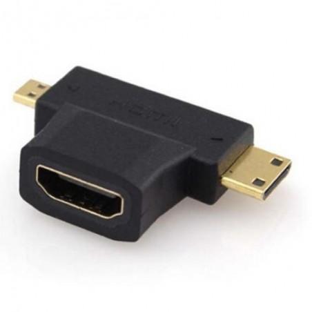adapt Stillik fra HDMI hona / Micro HDMI eller mini-HDMI hane