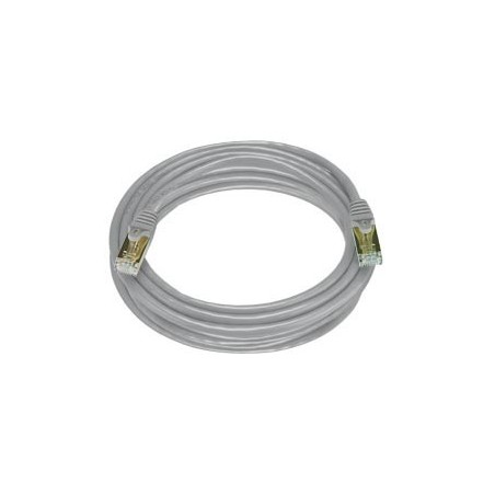 Cat. 7 Class F (ISO/IEC 11801) netværkskabel med RJ45 stik, SFTP, 600MHz, AWG27, grå. 2,5m