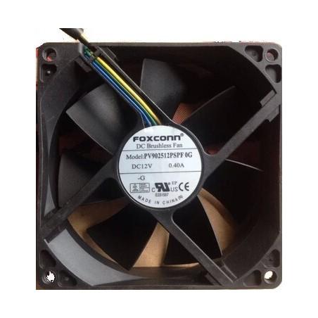 12VDC fläkt 90 x 90 mm med 4 pin kabel/kontakt, 0.4A