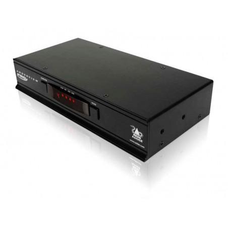AdderView PRO 4-portars USB DVI KVM-omkopplare till bildskärm, mus OCH tillangentill bord