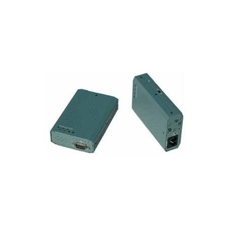 Restparti: RS232 seriell port via 230V AC kraftillnätill