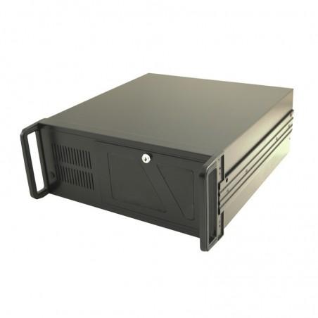 "4U 19"" dator chassi, ATX, 45cm djup, svart, USB uttag på framsidan"