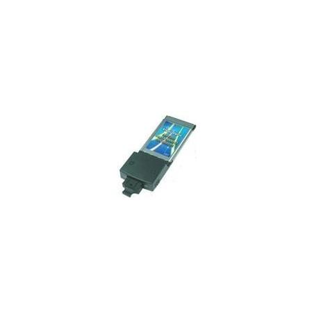 Restparti: 100 Mb PCMCIA nätillverkskort till SC fiber. CardBus 100Base-FX Fiber PC NIC