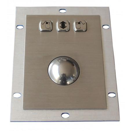 IP65 laser tillrackball 1200 dpi stål för inbyggnad. USB / PS/2