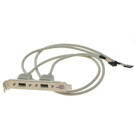 Restparti: Backboard 2 x USB med 60 cm kabel