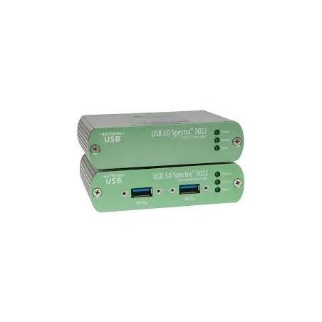 USB 3.0 extender, 2 USB portar, över Multi Mode fiber, upp till 100m