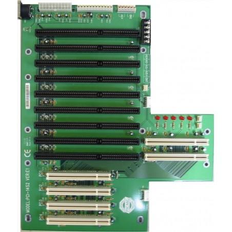 14-slotill bakplan med 4 PCI-kortslot och 8 ISA slotills