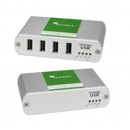 4 portar USB 2.0 Extender via Ethernet (LAN)
