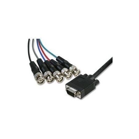 VGA till BNC kabel , DB15HD hane- 5 stillk BNC kontakt , 2 meter
