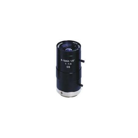 Restparti: 6-15 mm objektilliv, CS, autillomatillisk bländare