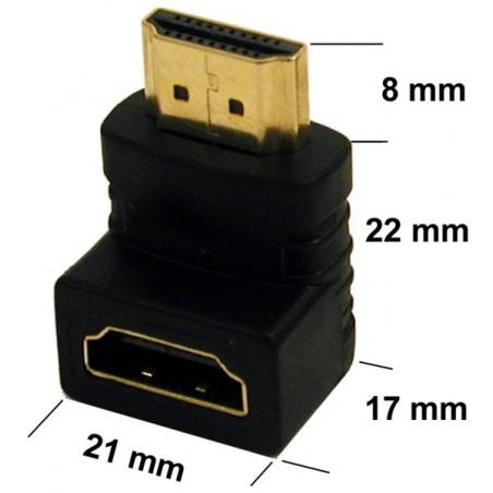 HDMI 90º vinkelkontakt
