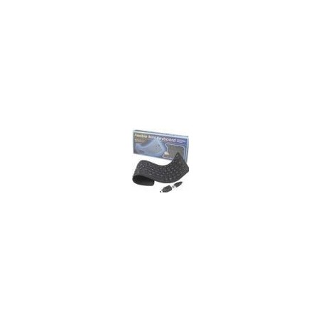 Bøjeligt IP65 tæt silikonetastatur - USB og PS/2, norsk tegnsæt, svart