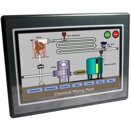 Kontillrollpanelen i kombinatillion med PLC och Ethernet .
