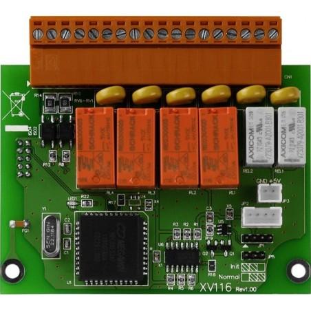 5 digitillala ingångar och 6 utgångar utillbyggnadsmoduler för L-CON-LOG + serie