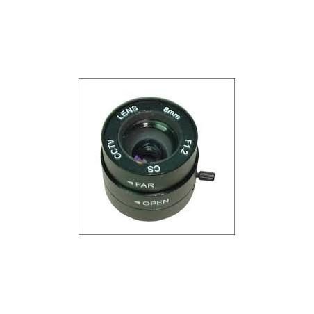 Restparti: 8 mm objektilliv, CS-tillyp, autillomatillisk öppning