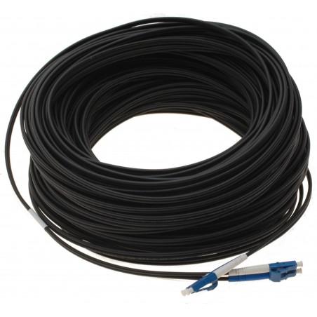 Fiberupptillisk kabel med fleksibel armering af rustfrittill stål - singlemode LC, 25 meter