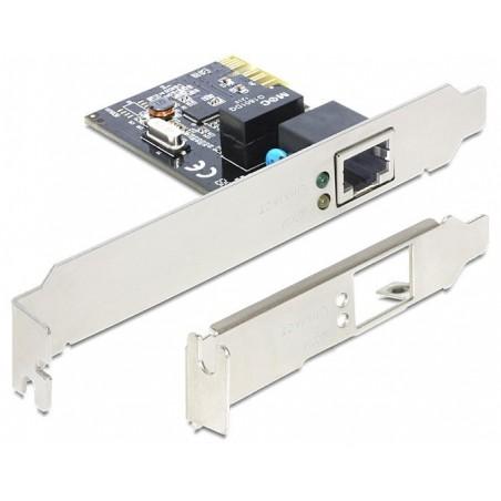 Netillværkskort 10/100/1000 Mbitill PCI-Express Gigabitill m low profile bøjle. Netillværksadapter PCIe x 1 Gigabitill LAN