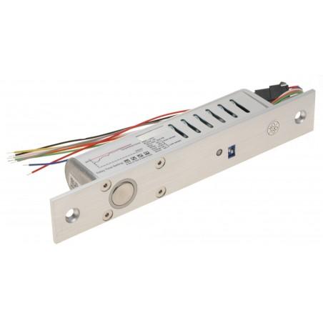 Elektrisk boltlås til dørkarm, 24V 550mA - magnet-position-sensor. Låst med spænding. Åben uden spænding.