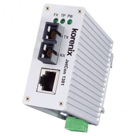 Mediekonvertiller 100Mb TX till SC singlemode Fiber, 30 km