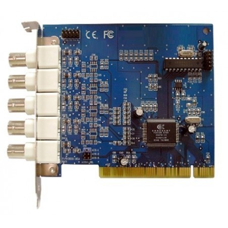 PCI-kort med kameraindgange og mange avancerede funktillioner, 4 kanals analog videoövervågning till pc