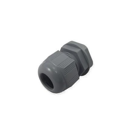 Kabelforskruning/ Cable Gland 6-12mm M20 Grå inkl. møtillrik, IP68 tillætill
