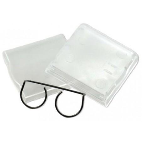 Lösa kvadratdiske tangentbordtangenter med bracket. genomsiktliga. Paket med 6 st.