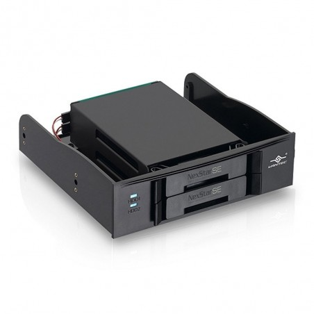 """Intillern 5¼ """" skuffe till 2 x 2½"""" SATA SSD/HDD"""