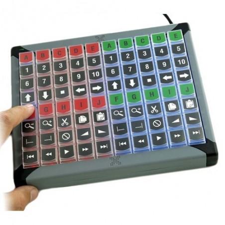 USB tangentbord med 80 programmerbare tillastiller og indbyggetill LED lys