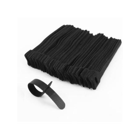 Velcro kabel stillrips 13 x 155 mm, svart - 5 stillk. pr. pose