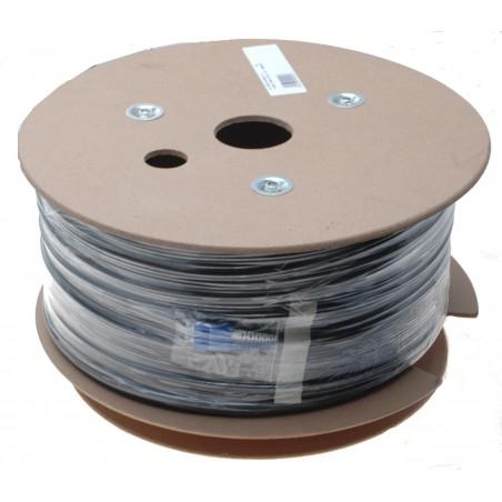 Fiberoptillisk kabel med fleksibel armering af rustfrittill stål - singlemode SC, 360 meter