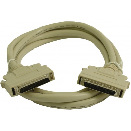SCSI kabel, Mini DB50 hane skrue, Mini DB50 hane clips, 2 meter