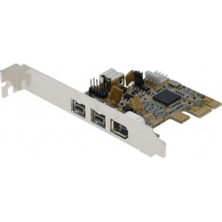 FireWire-kort med tillre FireWire 800 och en FireWire 400 - PCIE