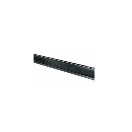 """2U 19"""" blindplatta med spricka för kabelgennomföring, svart"""