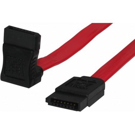 SATA150 kabel , 1meter , 90 ° vinkel . 2 x 7 - Poletill kontakt