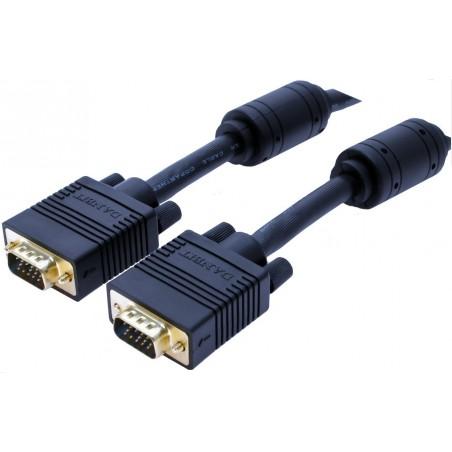 VGA monitillorkablar i mange længder og farver.